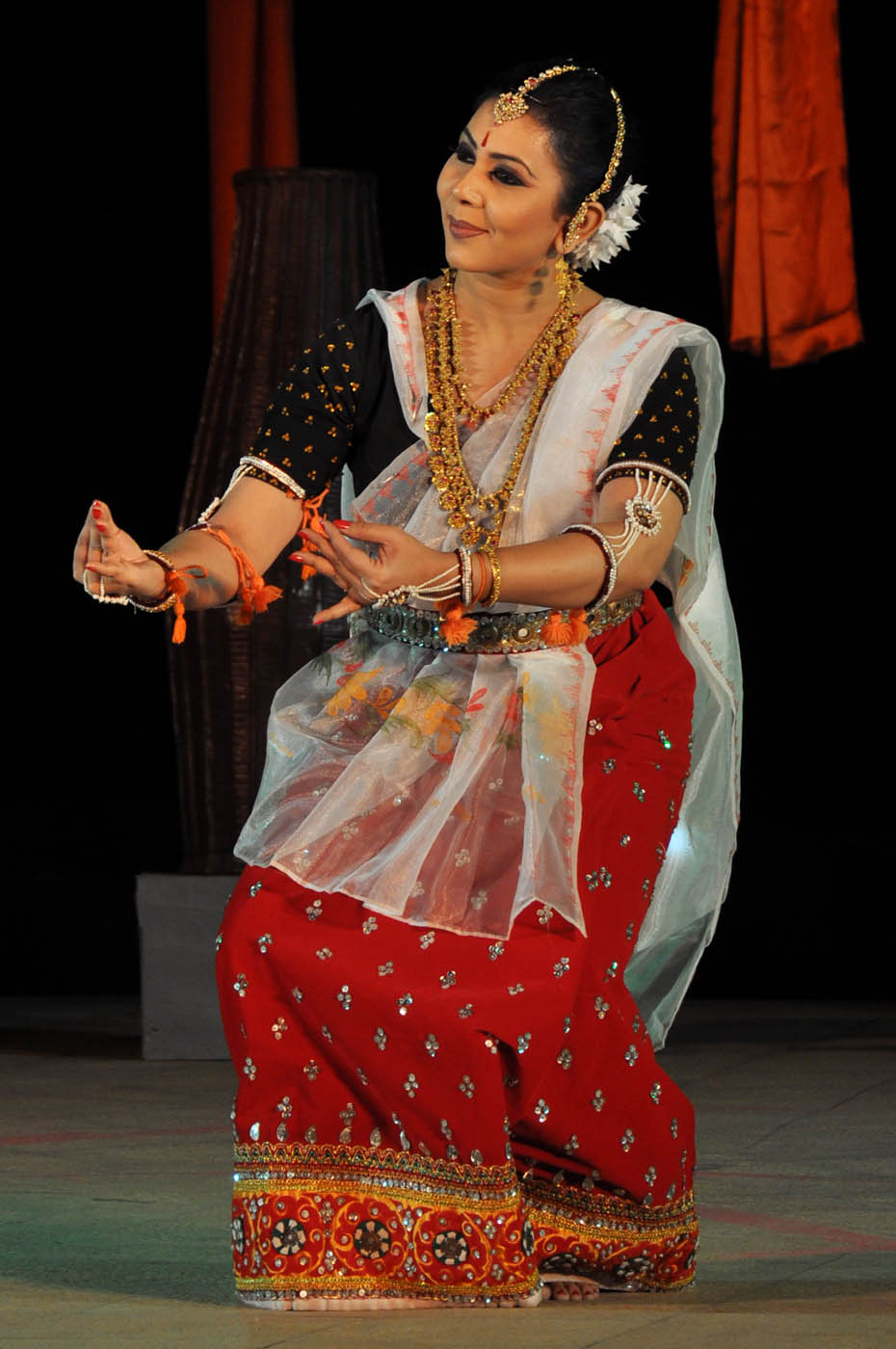 Manipuri performance by Warda Rihab from Bangladesh at 7th PRAGJYOTI INTERNATIONAL DANCE FESTIVAL GHY 1